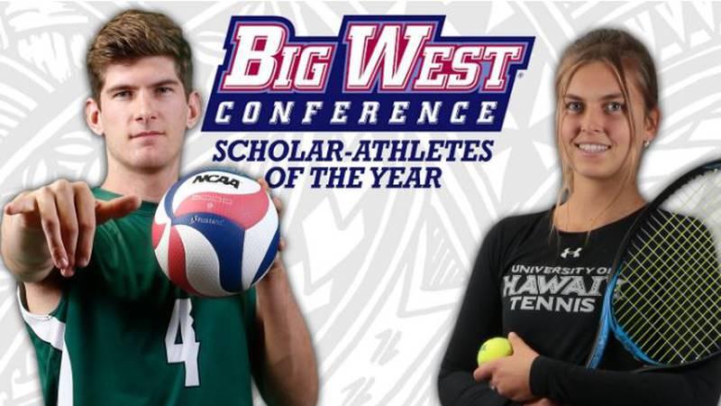 UH volleyball player Stijn van Tilburg and tennis player Petra Melounova were named Big West...