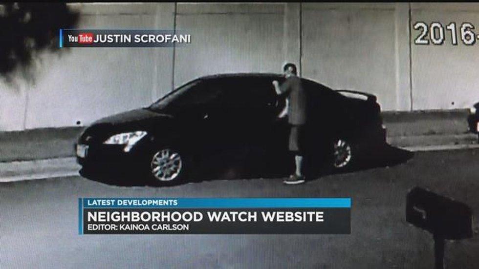 (surveillance video: Justin Scrofani)