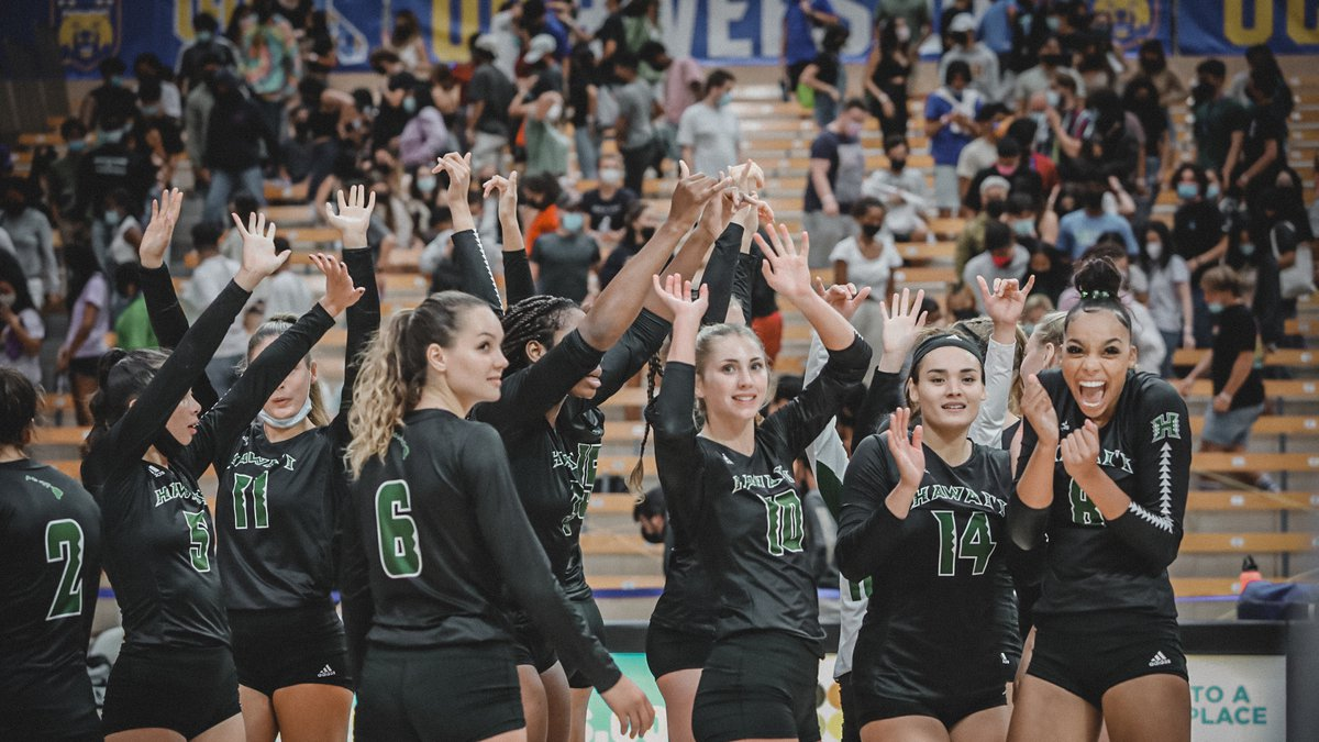 The University of Hawaii Rainbow Wahine volleyball team continued their Big West Conference...