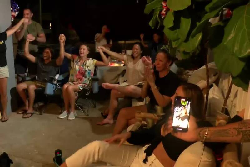 As Carissa Moore surfed her way to gold in Japan, Hawaii News Now was live at the watch party...