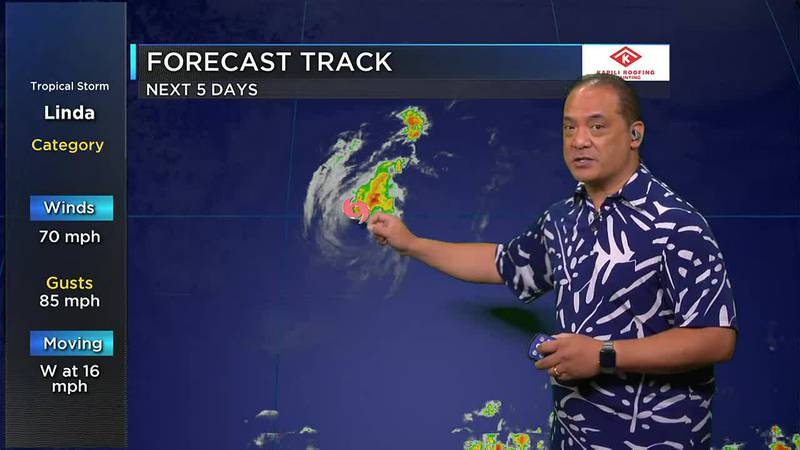Billy V has the latest on Tropical Storm Linda and its effects on the Hawaiian Islands this...