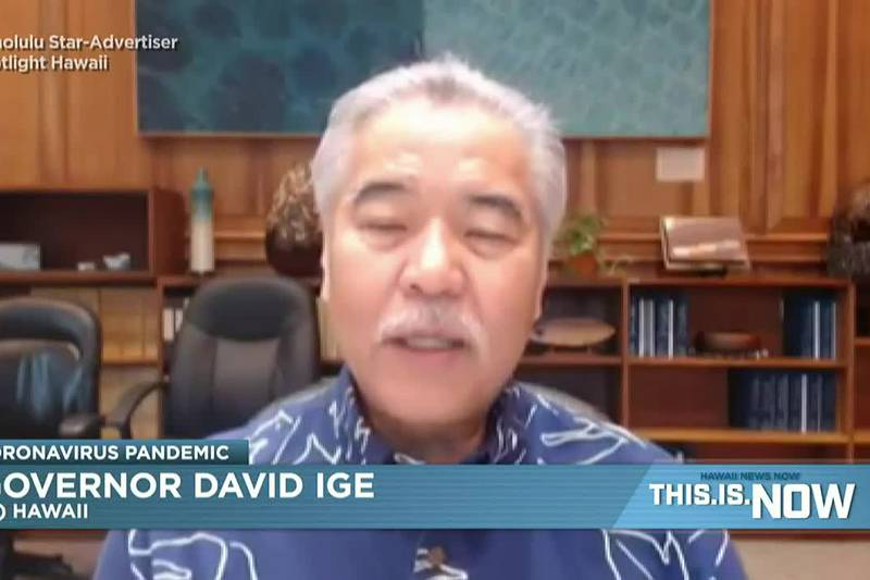 Ige was a guest on the Star Advertiser's Spotlight Hawaii on Monday.