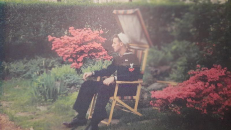 Thomas Charles as a U.S. Navy sailor.