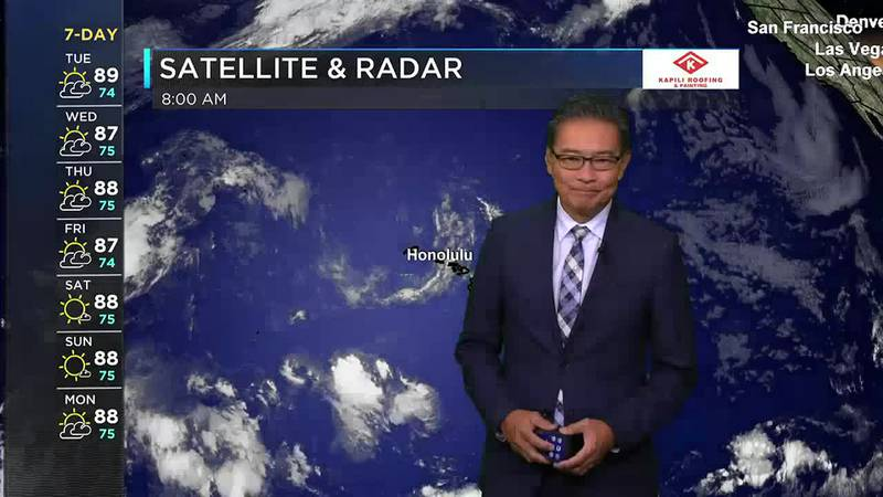 Morning Weather Forecast from Hawaii News Now - Tuesday, September 21, 2021