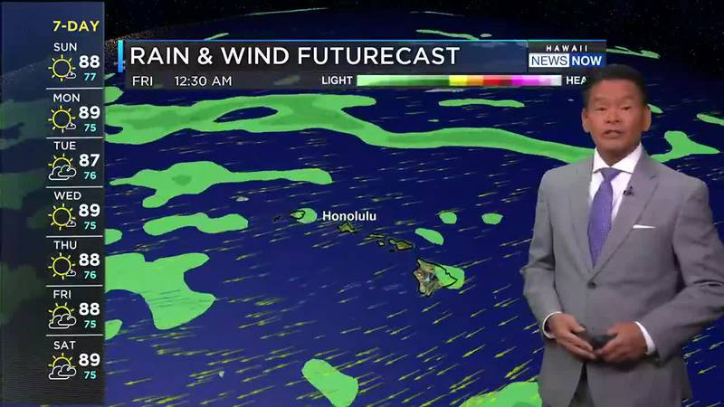 Locally windy conditions are possible for the coming week