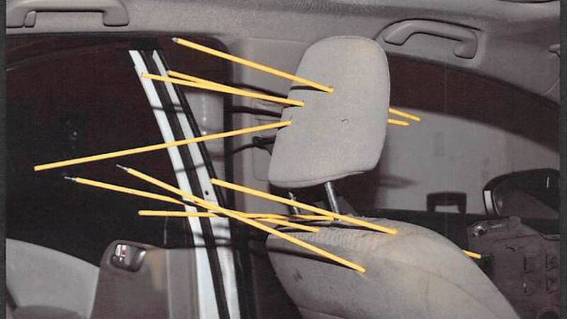 Charging documents included images of bullet trajectories from the officers.