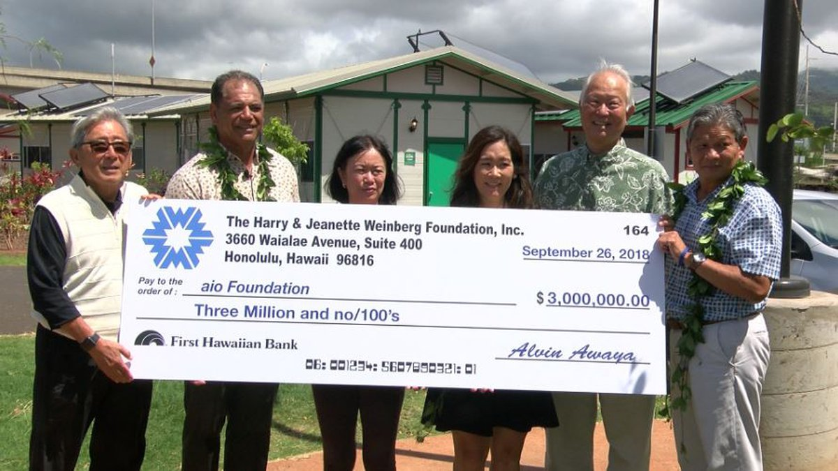A $3 million donation was made to the foundation behind Kahaiki Village.