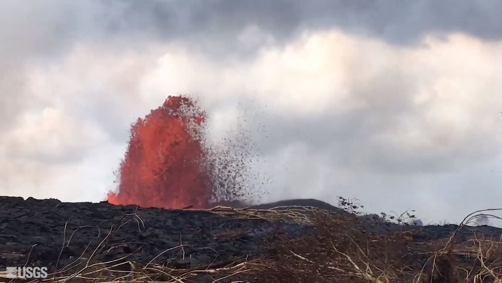 The eruptions just keep going in lower Puna, where the first fissure opened on May 3. (Image:...