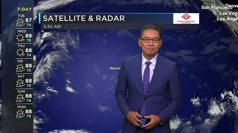 Morning Weather Forecast from Hawaii News Now - Tuesday, September 28, 2021