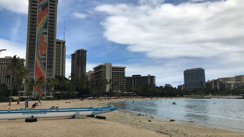 Waikiki on Friday was not as packed as it was over the summer.