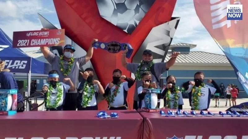 Maui team wins 2021 NFL Flag Football Bowl in Tampa, Florida