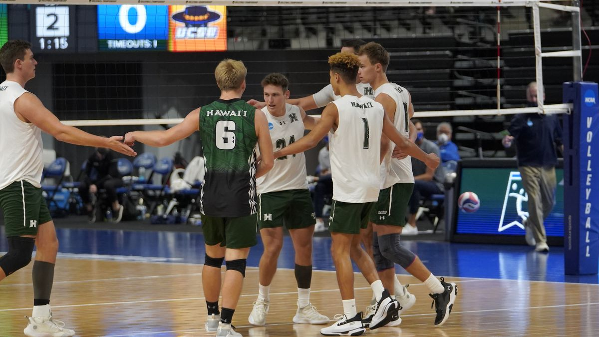 The No. 1 ranked Rainbow Warriors volleyball team punched their ticket to the 2021 NCAA...