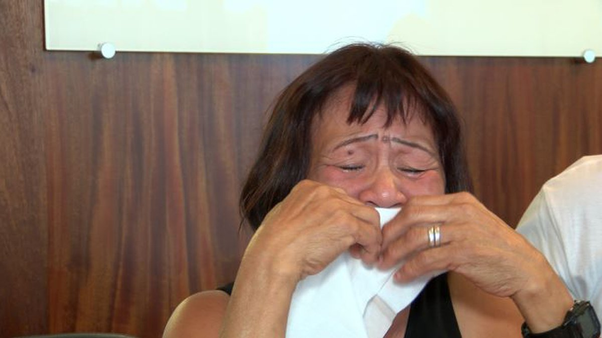Cresencia Espejo was left heartbroken as she remembered the life of her son.