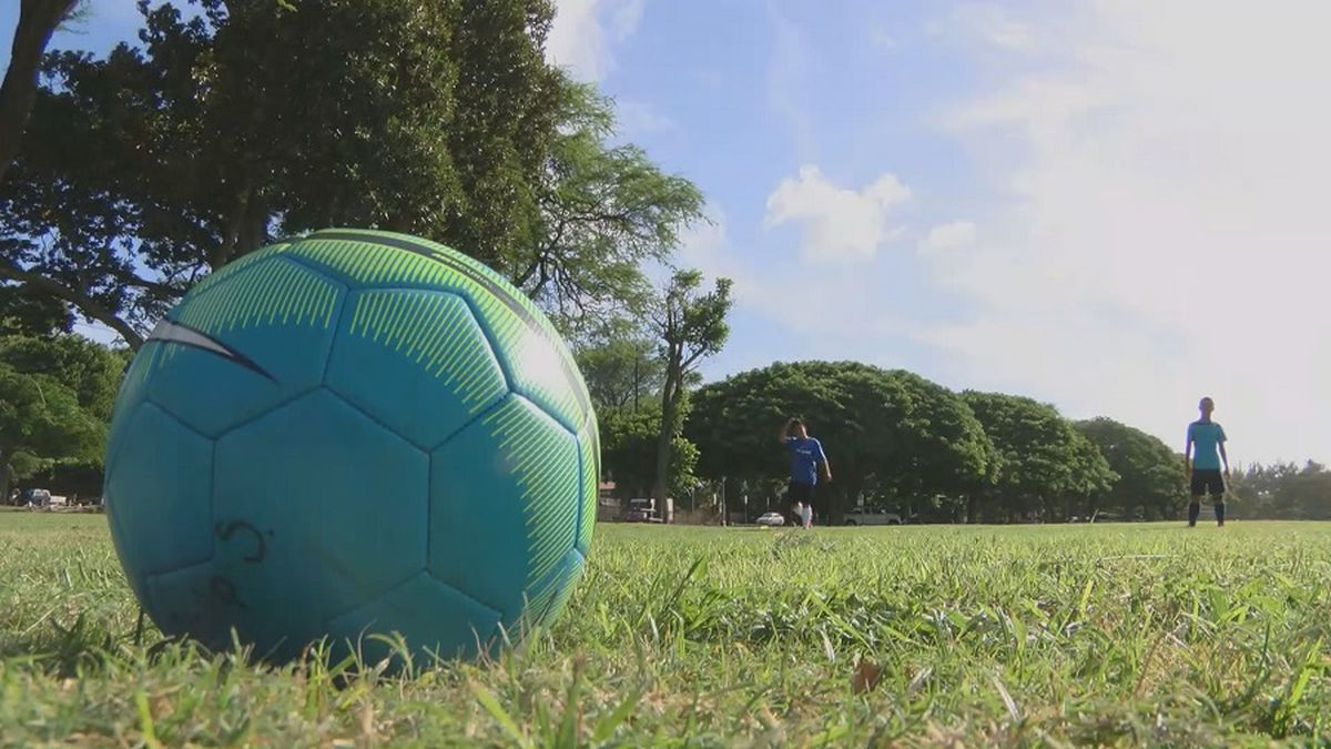 Organized outdoor sports are not allowed for now as part of Oahu's new reopening plan.