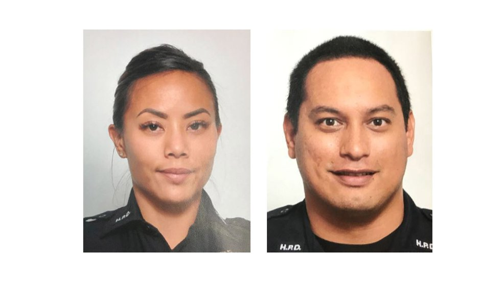 The Honolulu Police Department released the identities of the two officers killed in Diamond...