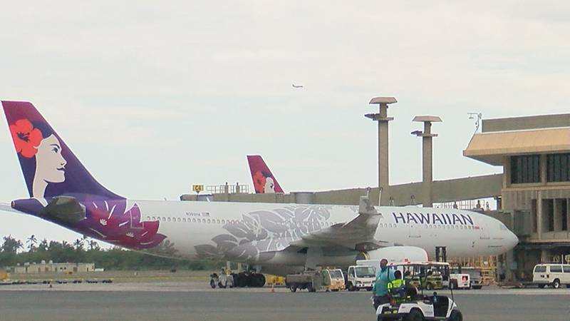 File photo of a Hawaiian Airlines plane