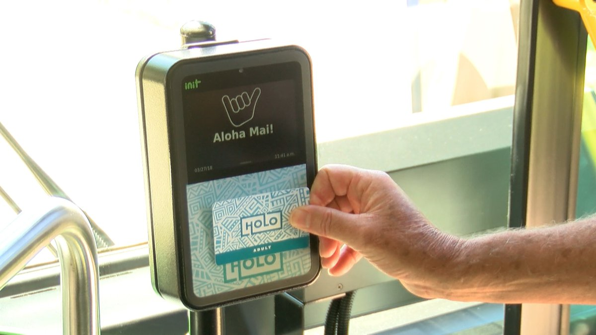 Eventually all public transportation will be accessed by using the new HOLO card being tested...
