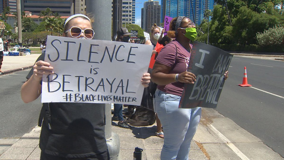 Several Black Lives Matter protests have taken place in Hawaii in recent days.