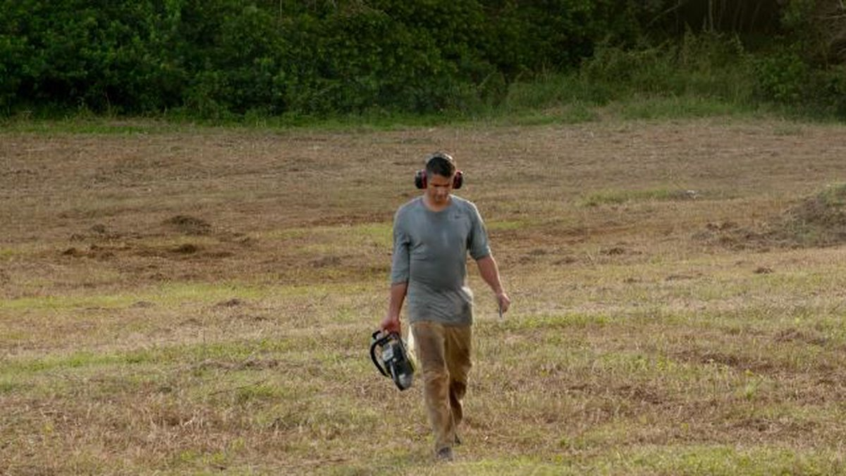 Professor Camilo Mora walks on the land where his initiative planted 10,000 trees recently.