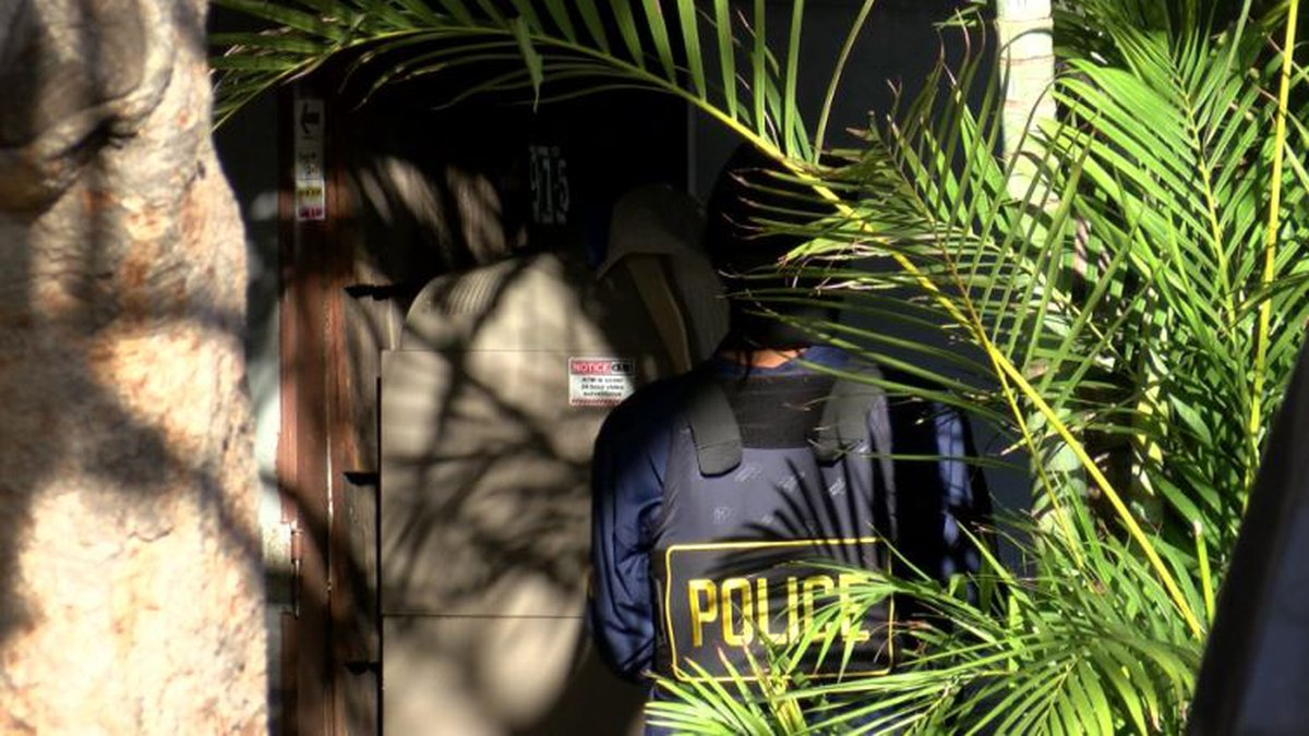Honolulu police conducted the raid Monday.