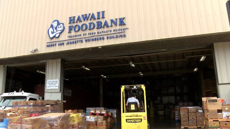 The first shipment of local produce arrived Tuesday at the Hawaii FoodBank Mapunapuna location.