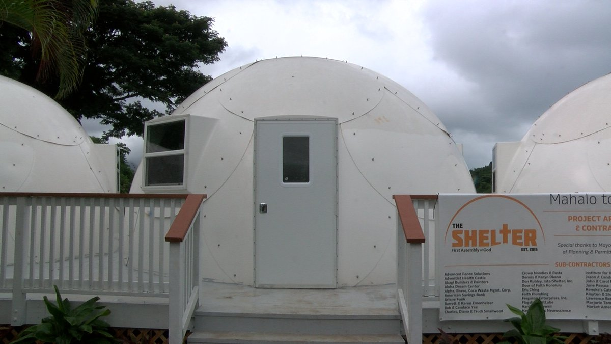 There are 12 of these igloo-like dome shelters on the grounds of a Kaneohe church. (Image:...