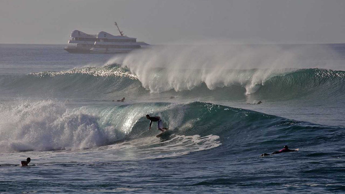 """High surf taken at the """"Kewalos"""" surf spot on the south shore of Oahu on Oct. 4. More high surf..."""