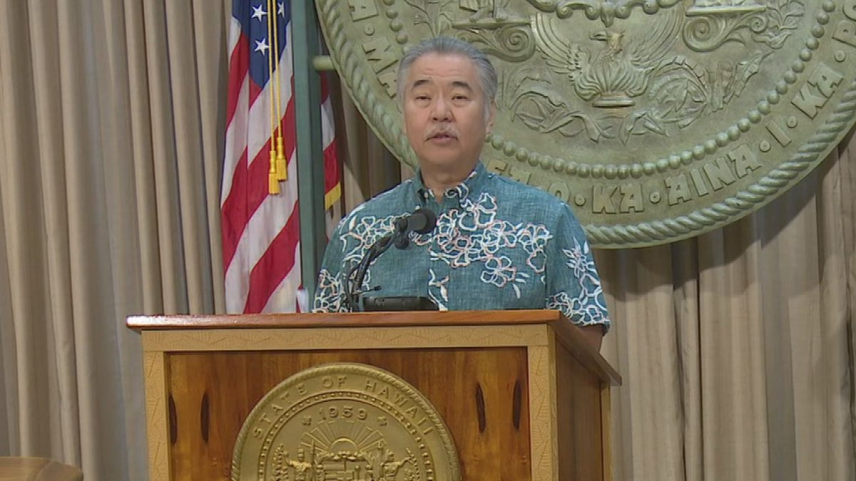 Gov. David Ige addressed the state in a news conference Thursday.