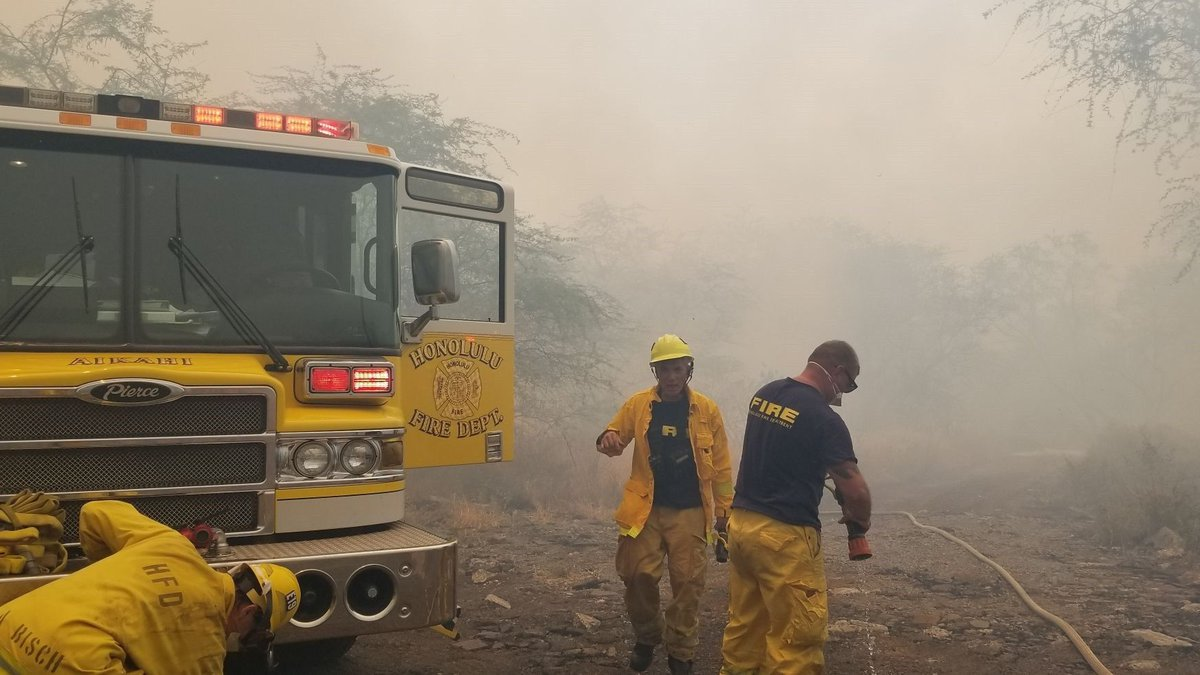 HFD keeps up with a busy season for brush fires in the summer months. (Image: Hawaii News Now)