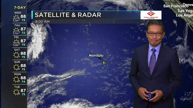 Morning Weather Forecast from Hawaii News Now - Wednesday, June 9, 2021