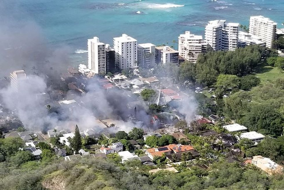 Several homes went up in flames in Diamond Head on Sunday morning following a shooting in the...