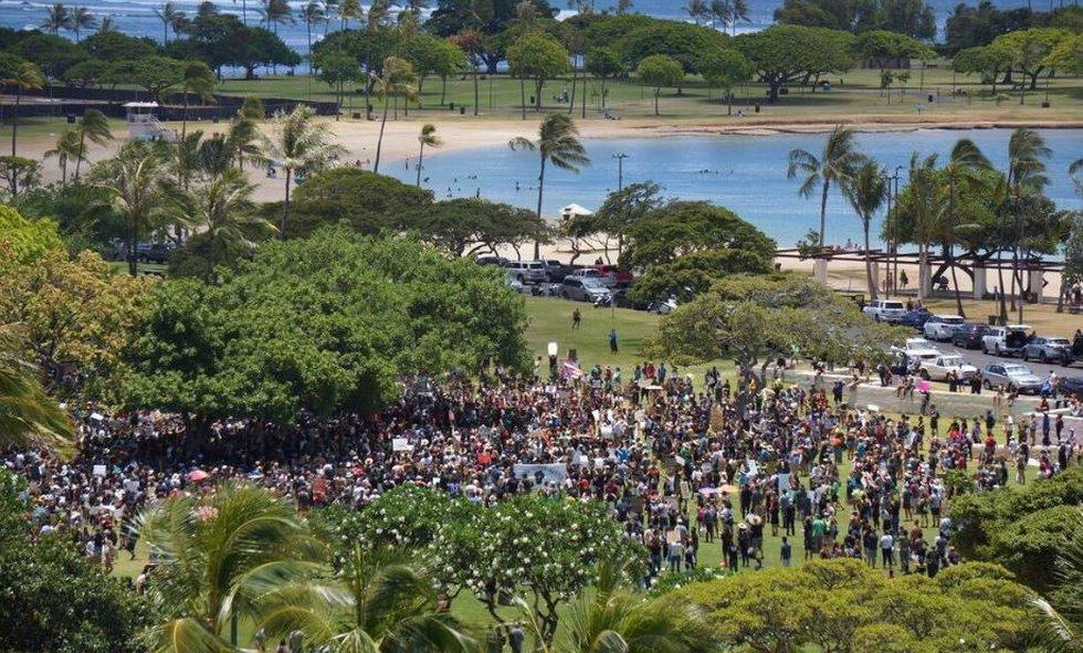 Photos: Hawaii Black Lives Matter Protests Draw Thousands Saturday.
