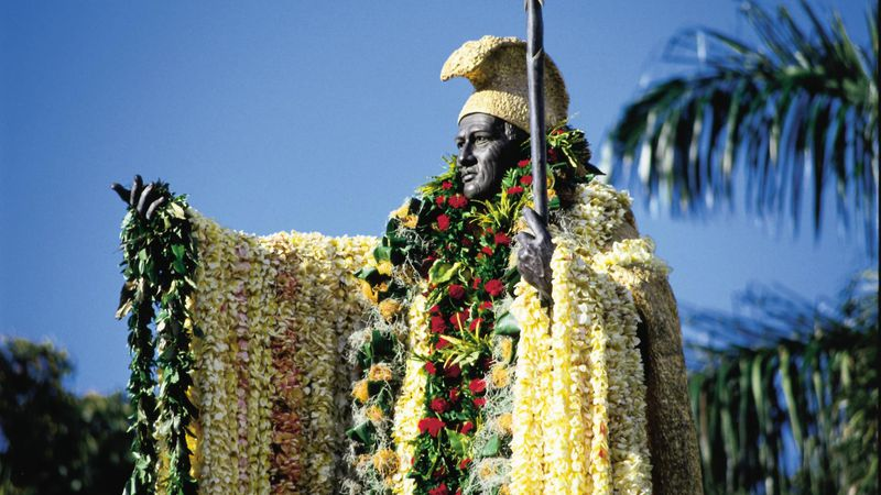 Sculpted by Thomas Gould in Florence, this 18-foot bronze statue of Kamehameha is one of Oahu's...