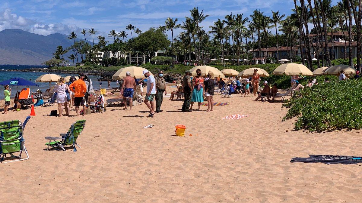 Battle over a Maui beach heats up as tourists return.