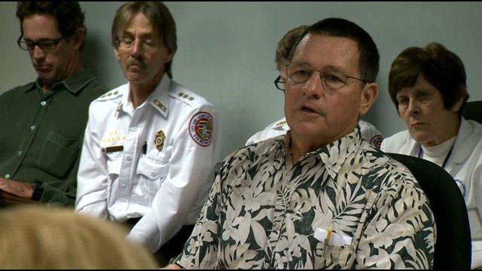 Dr. David Moore (in Aloha shirt)