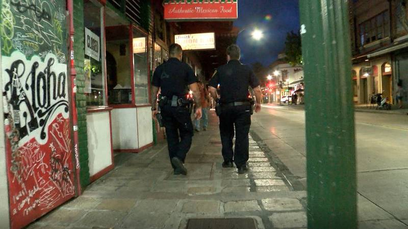 Officers walk through Chinatown in six-hour shifts, 24 hours a day, seven days a week.