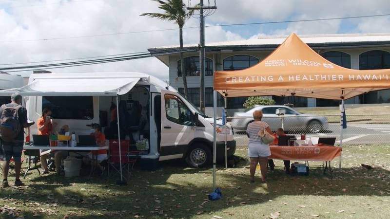 Mobile clinics are popping up all around Kauai. Vans are being used for testing and vaccine...