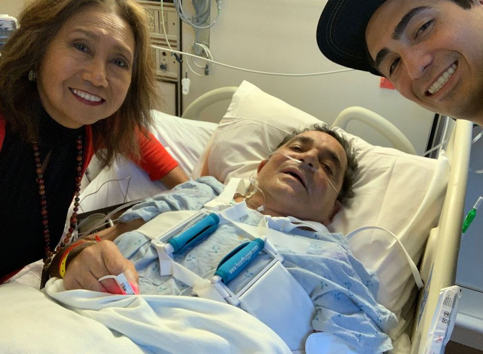 Phillip Sarubbi after his heart surgery in Feb.