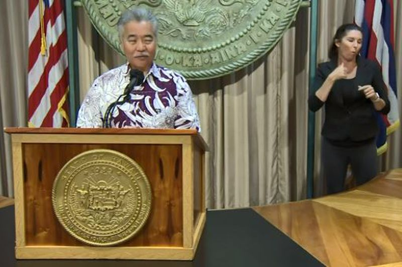 Gov. David held a news conference Monday on his list of measures he wants to veto.