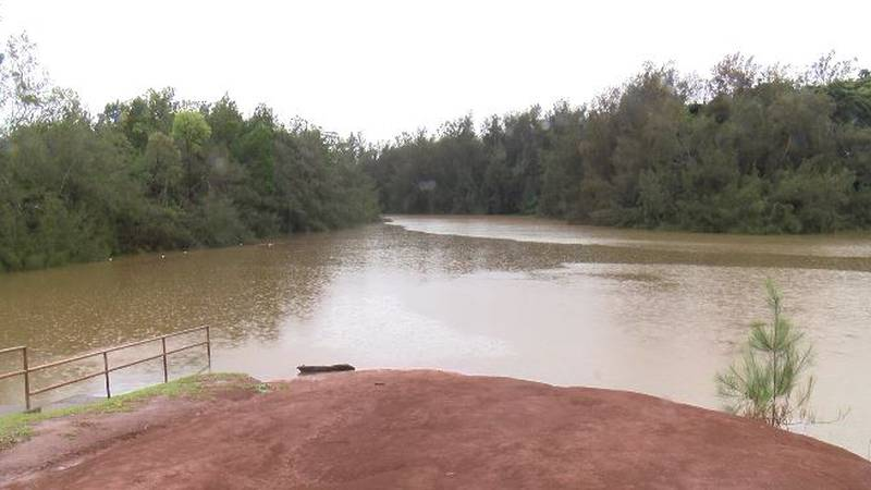 Lake Wilson rose to concerning levels Sunday following a weekend of heavy rain.