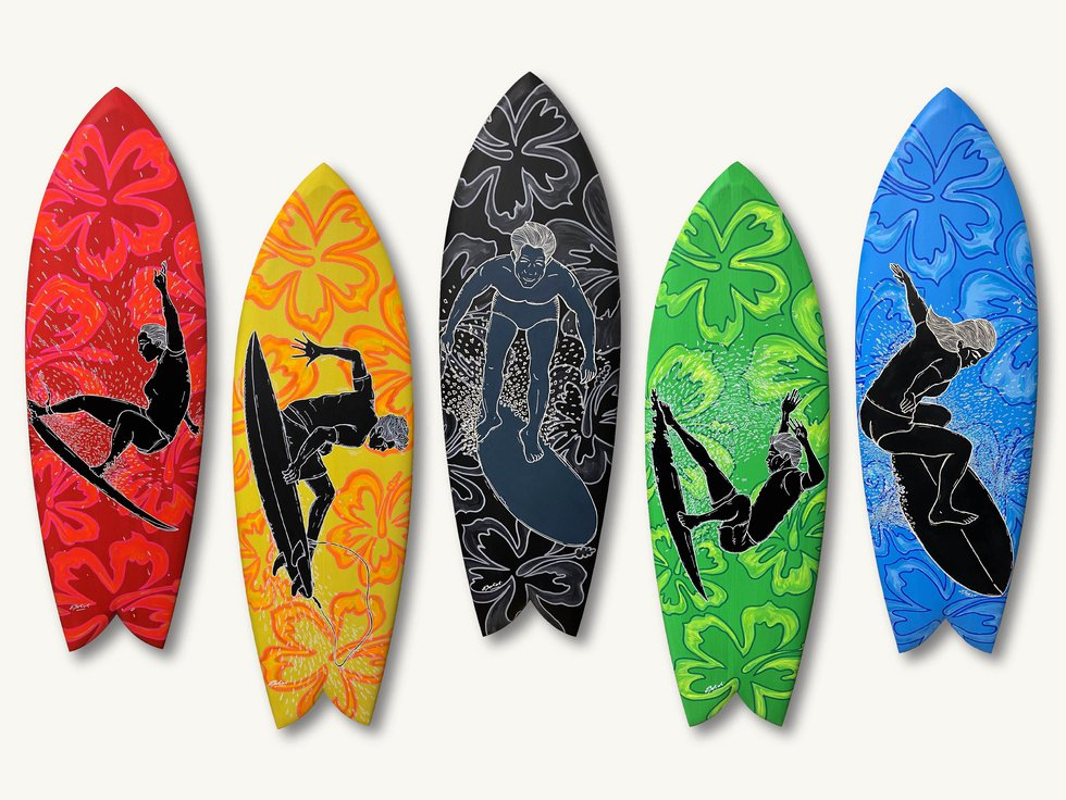 With the Tokyo Olympics just days away, a local artist is commemorating Surfing's Olympic debut.