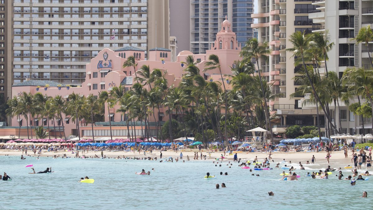 HONOLULU, HI - AUGUST 22:    With more than 270,000 visitors in Hawaii and the majority on...