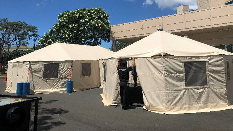 As Hawaii's COVID crisis worsens emergency rooms are crowded with a mix of COVID patients...