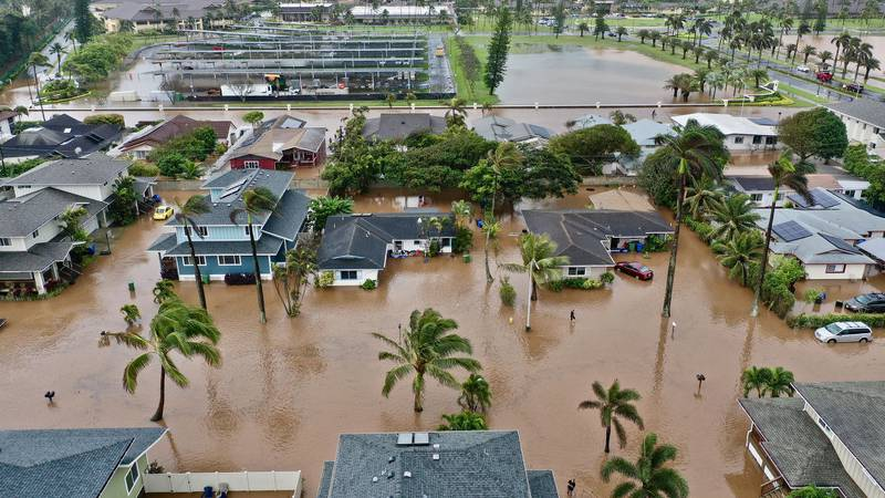 Heavy rains triggered widespread flooding on Oahu's North Shore in March, including in Laie.