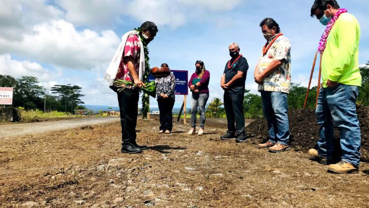 A groundbreaking ceremony took place for the upcoming homes.