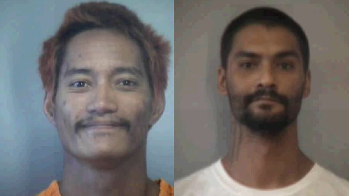 Maui Police are searching for Berret Paman, 31, and Troy Diego, 30, after the pair escaped from...