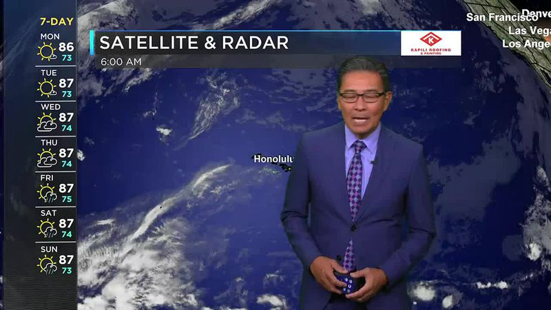 Morning Weather Forecast from Hawaii News Now - Monday, June 14, 2021