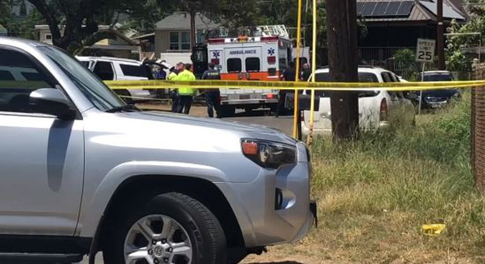 Police are investigating a shooting that left an officer injured.