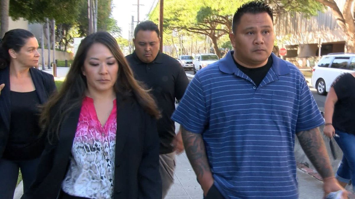 Officer John Rabago, in the blue shirt, is set to change his plea.
