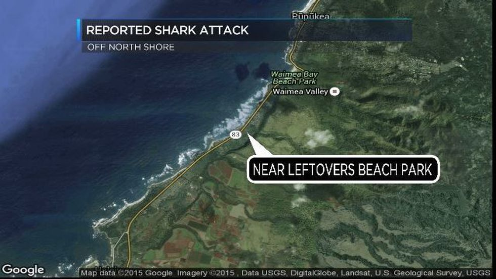 Location of reported shark attack